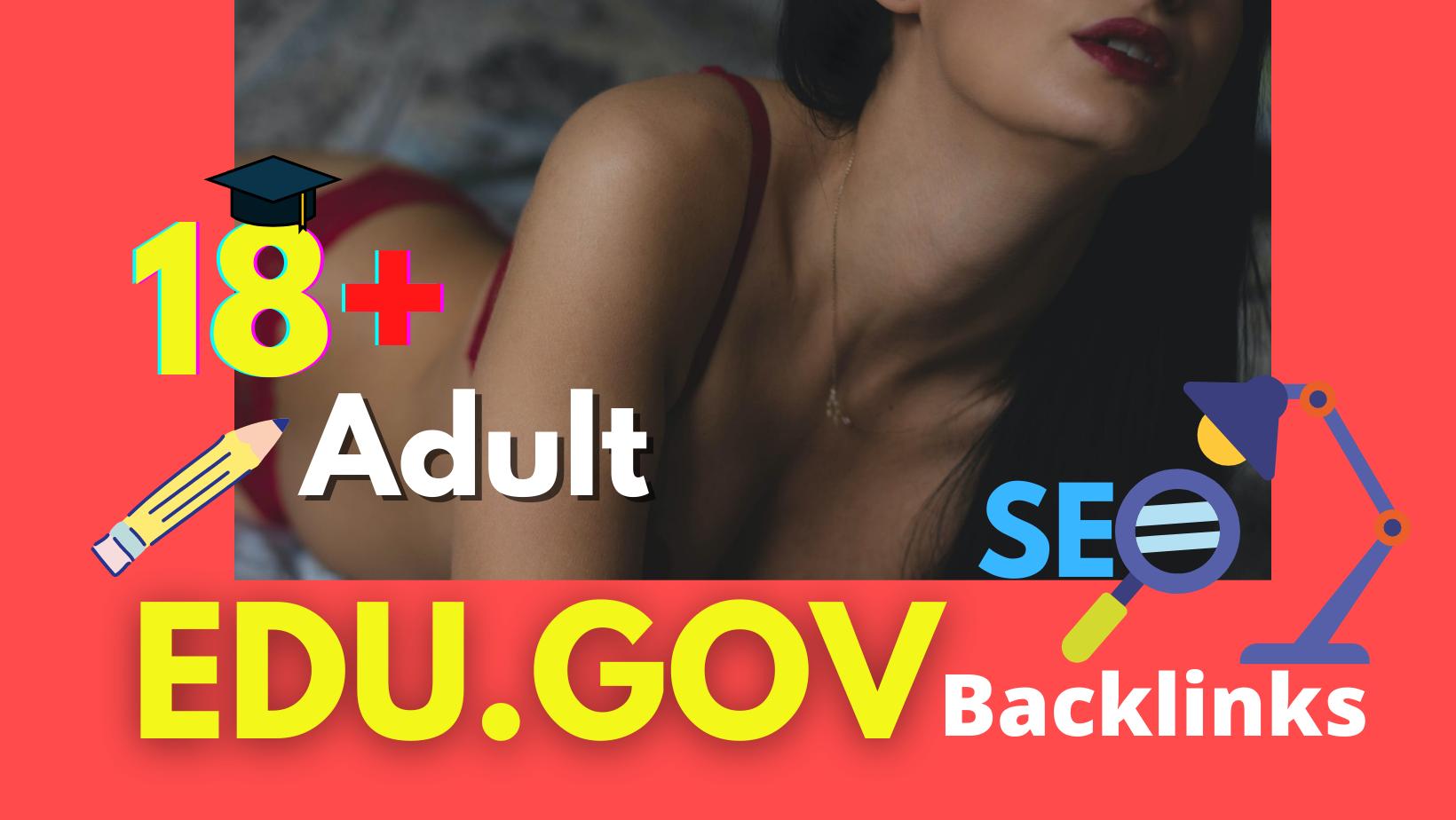 I will manually 100 EDU.GOV backlinks highDA-PA google Top ranking for your adult websites