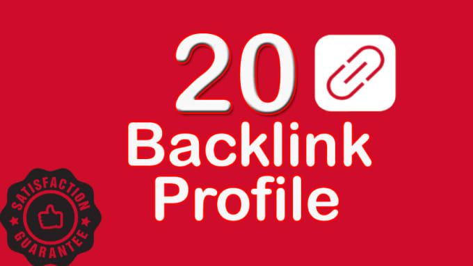 Provide 20 High Quality DA 50 TO 70 Profile Backlinks With Login Details