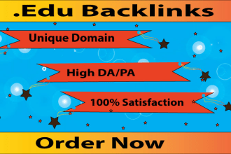I will create 100 unique updated edu gov backlinks with keyword targeted