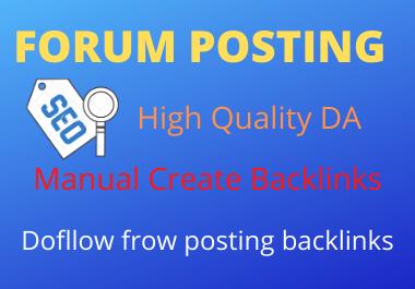 I will do 25 Forum posting SEO Backlinks On High DA/PA sites