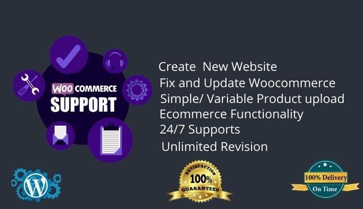 I will build your woocommerce wordpress website,  fix and update woocommerce