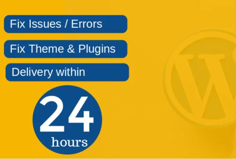 I will fix wordpress website issues,  errors or problems