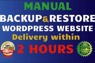 I will manually backup and restore your WordPress site