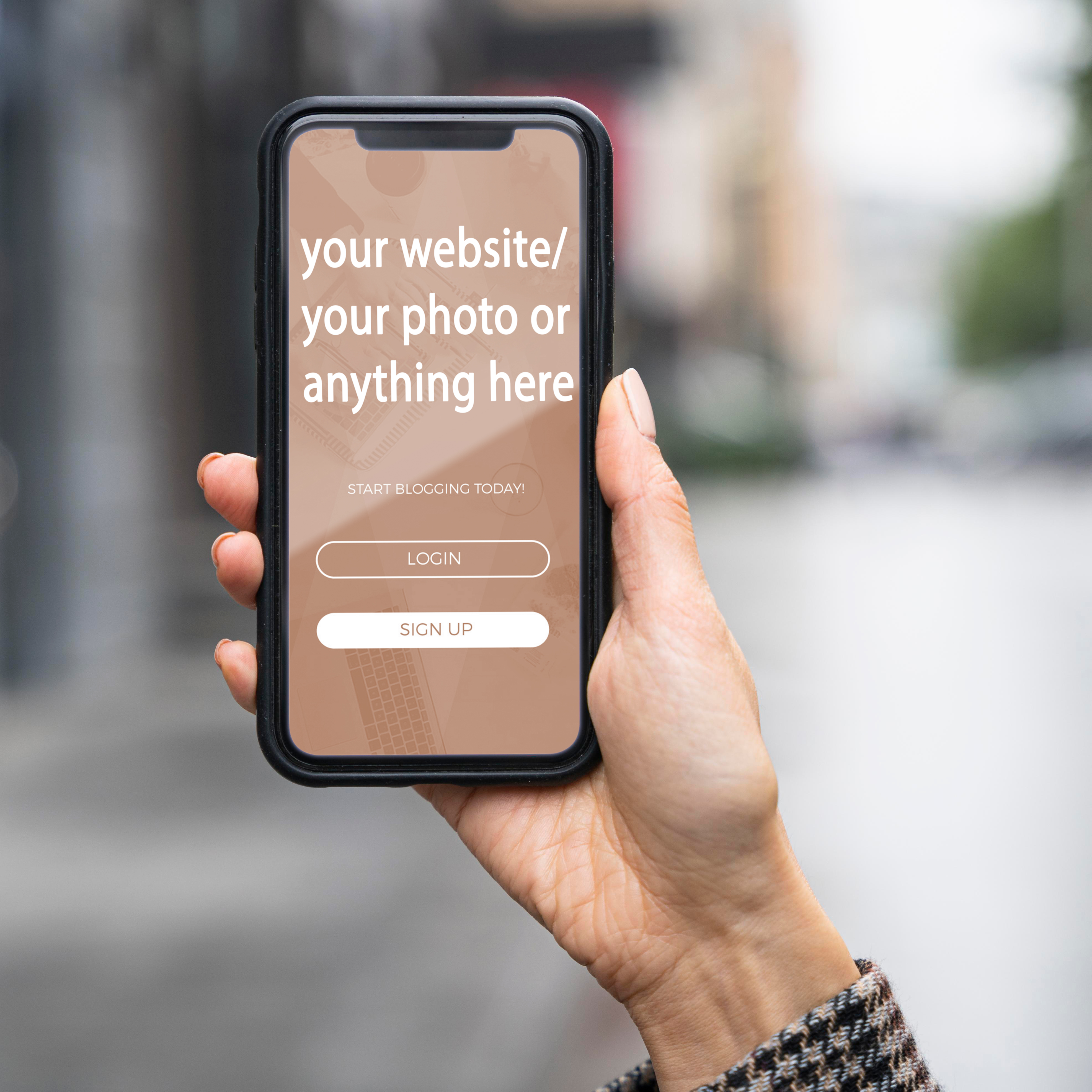 i will put your website name,  your photo or any text on awesome 3 smart phones