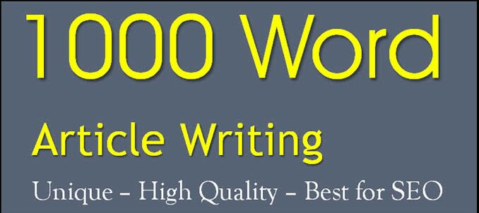 A+ Perfect 1000+ Word Unique Best for SEO Service