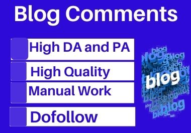 Manual 99 blog comment high authority permanent backlinks unique link building