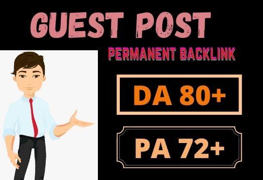 80 Da guest posting google news site permanent dofollow link