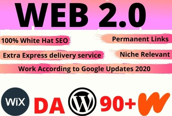 i will do 20 web2.0 for your website rank on google