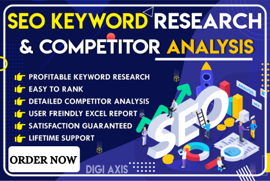 I will do excellent SEO keyword research and top competitor analysis