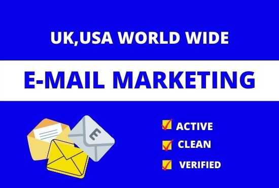 I will give you a 1000 verified Email List for your Business.