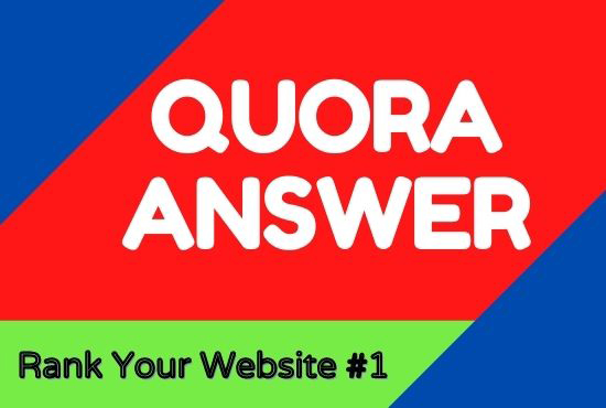 Promote Your Website With 20+ Quora Answer With High Quality Clickable Backlinks