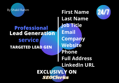 I will do B2B lead generation and valid Email collect by using LinkedIn