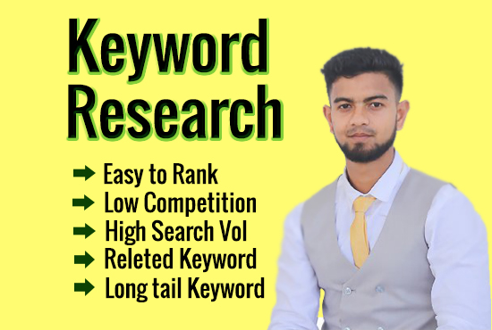 I will Do In Depth Keyword Research And Competitor Analysis For Your website