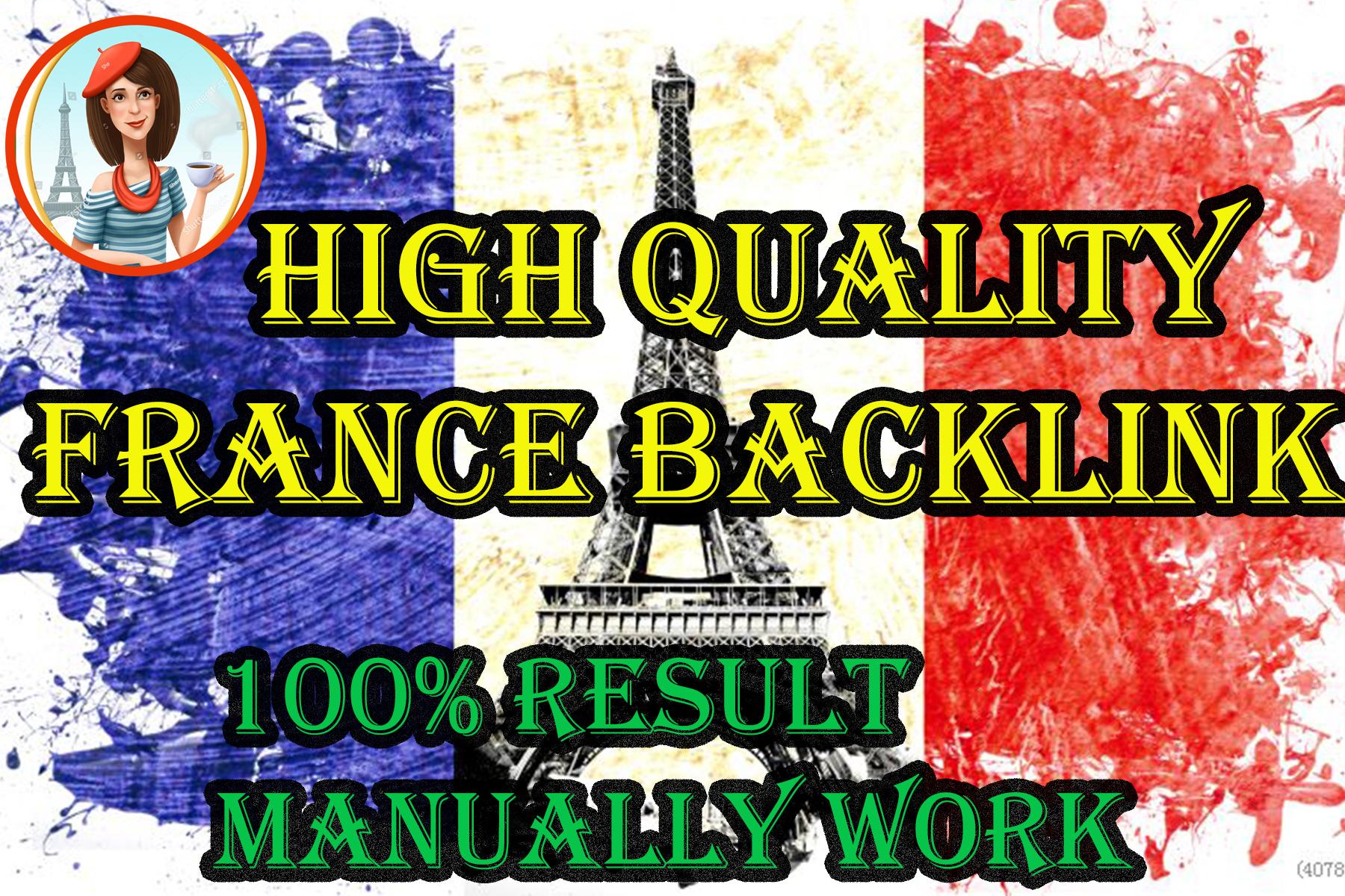 I will Create 15 high Pr, dr, da, france backlinks for SEO