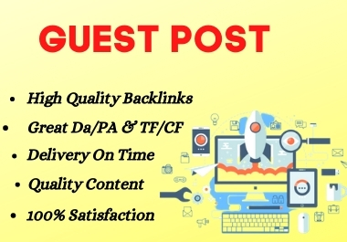 Manually Build 10 High Quality guest post on your website