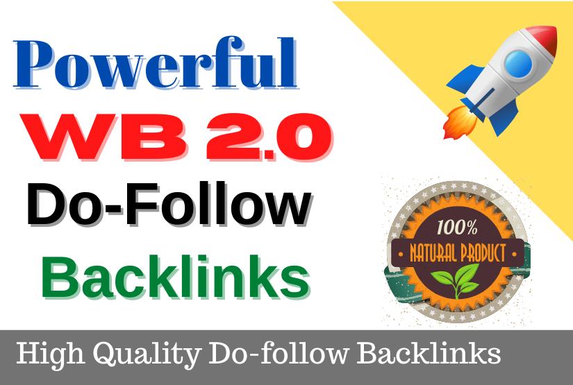 Build 30 High DA PA Dofollow permanent Web2.0 Backlinks