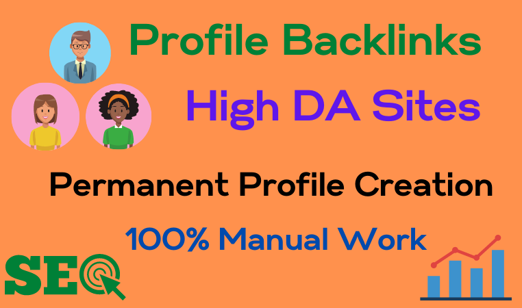 I will Create 30 High Quality Profile Backlinks for your Websites