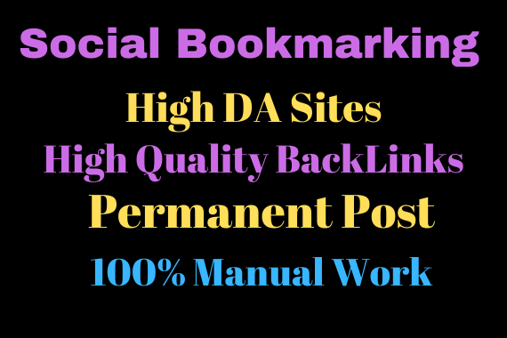 I will Provide you 20 social bookmarking High Da Sites with Permanent Backlinks