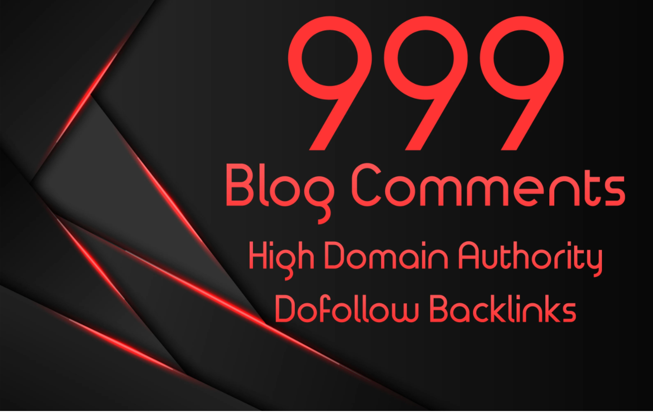 Manually create 1000 Dofollow Blog comments Backlinks
