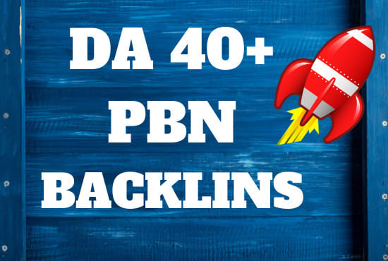I Will 40 High DR 50 Permanet Homepage PBN Backlinks