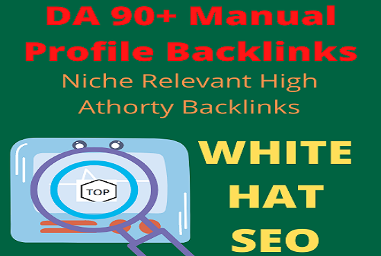 I will do 200 80 to 90 da profile backlinks with manual work guarated
