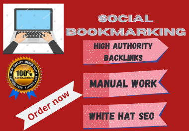 I will create 50 high authority social bookmarking