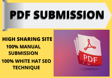 Best 20 PDF Submission on high authority website low spam score website.