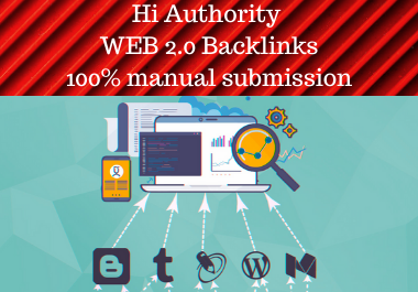 10 Web 2.0 Backlinks And Web 2.0 Profile Backlinks Get Effective High Authority Backlink in low spam