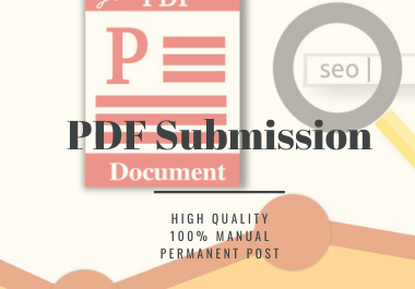 Manual 50 PDF or Doc Submission On High Authority Document Sharing Sites,  Using White Hat Tactics