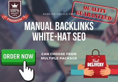 All in one 1000+ Manual backlink package white hat SEO