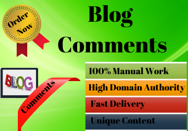 I will create 50 Blog Comments link building SEO service Do-follow backlinks.