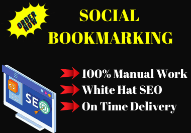 20 Social Bookmarking Submission High Authority link building permanent backlink
