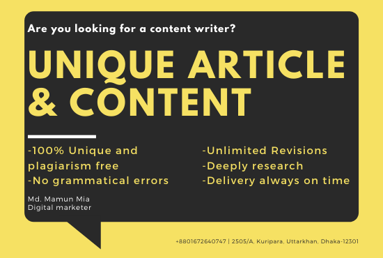 I will write unique article and content as per your given task 100-1200 word