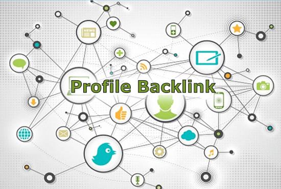 I will create 70+ HQ Profile Backlink with High DA PA sites.