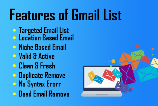 I will do 5000 Niche Targeted Email List for Email Marketing