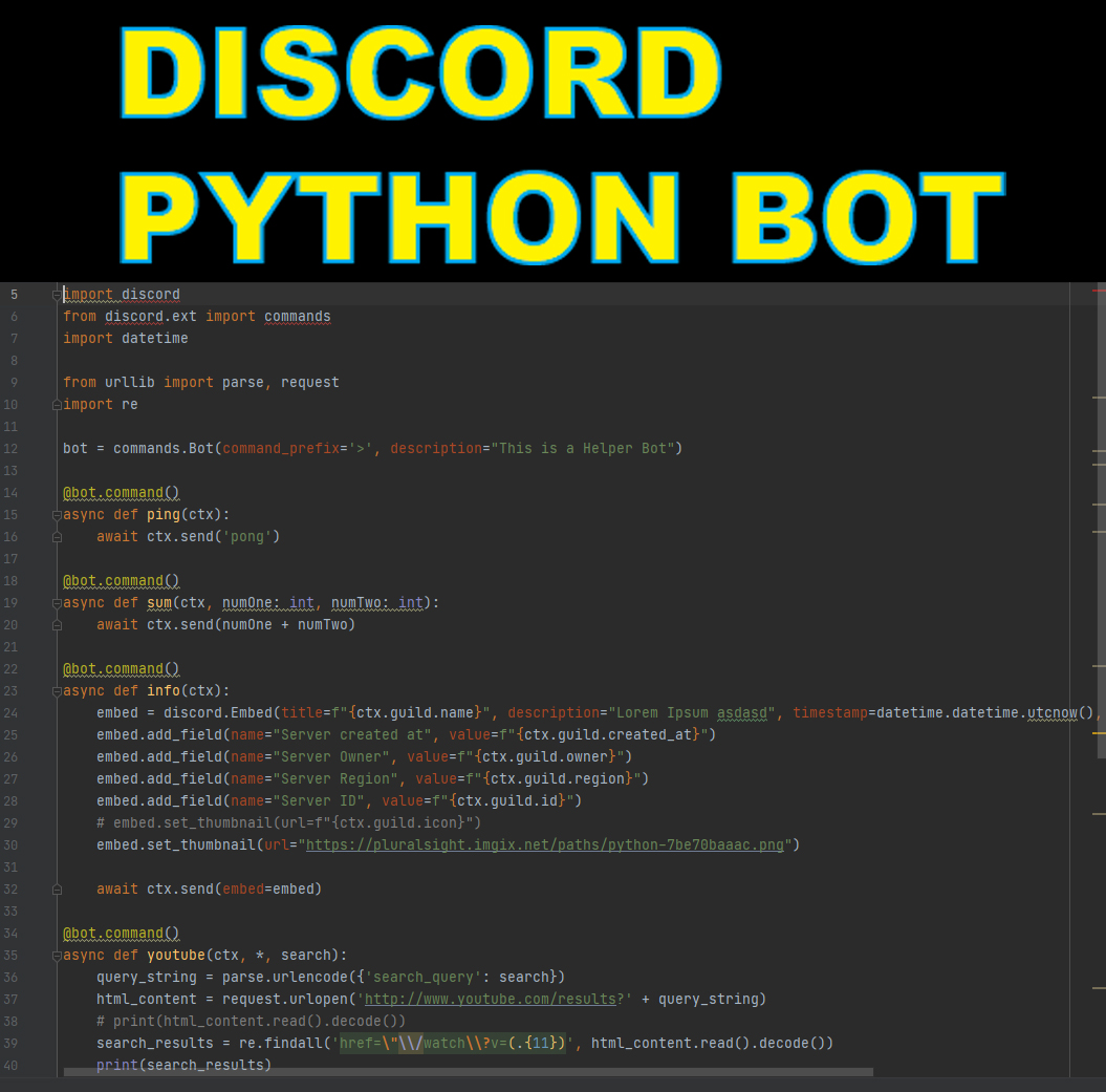 I will create a Python Discord Bot