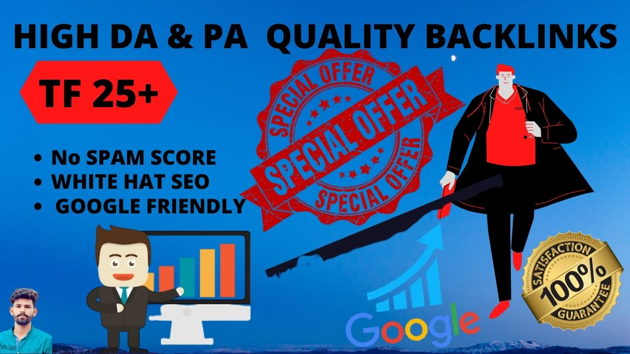 I Will Increase Your TF 25+ with High Da Pa Quality Backlinks Through PBN