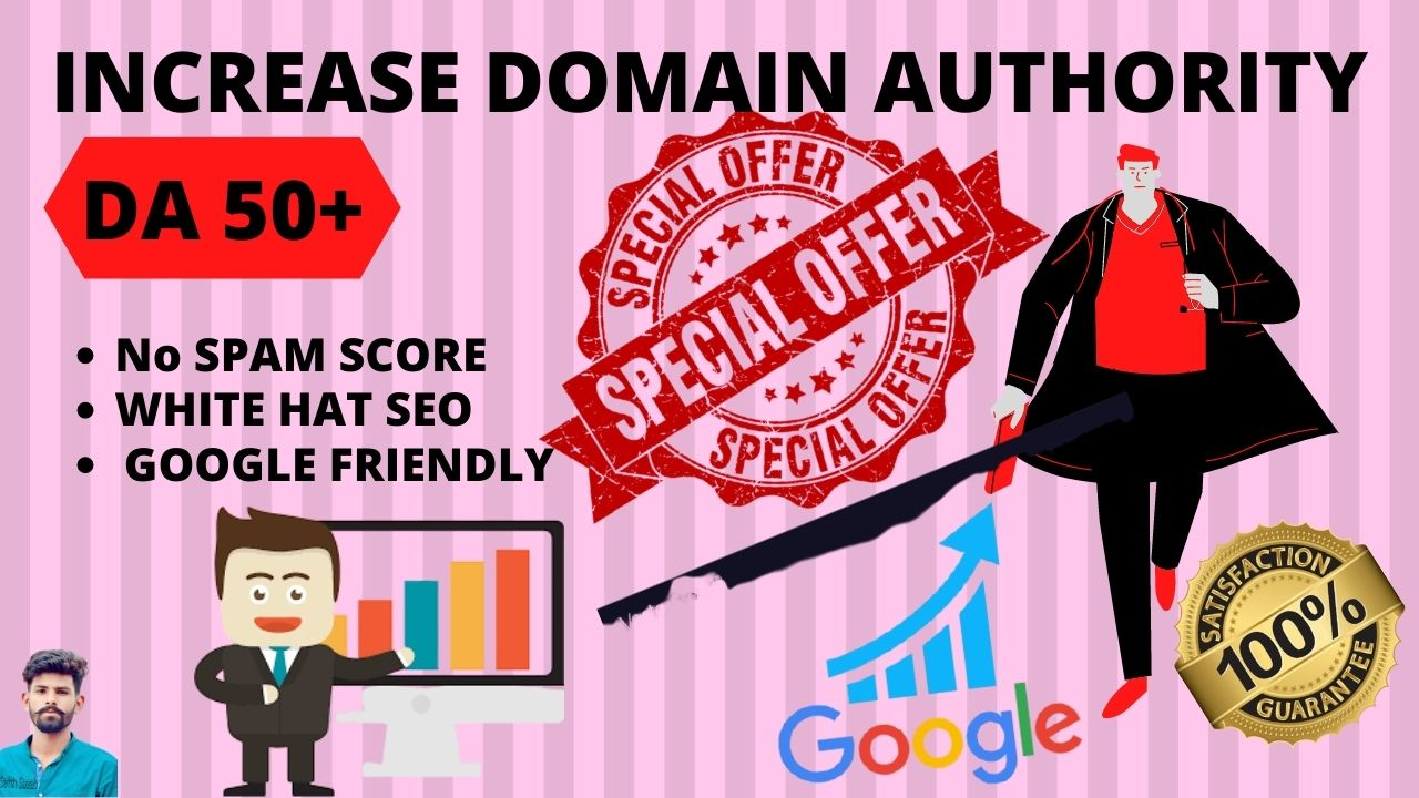 I Will Increase Your DA50+ With High Authority Backlinks Through PBN