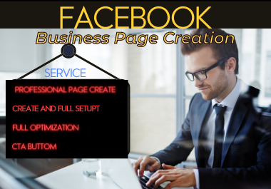 I do impressive Facebook business page creation and optimization