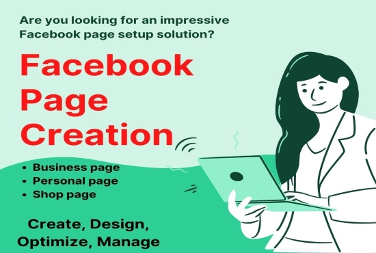 I will do impressive Facebook business page creation and optimize