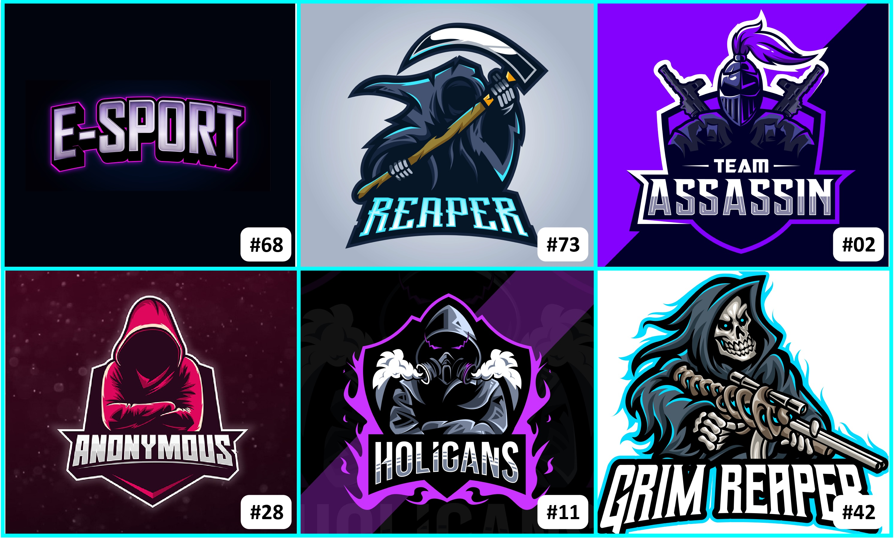 Design your esports gaming mascot logo at a cheap price