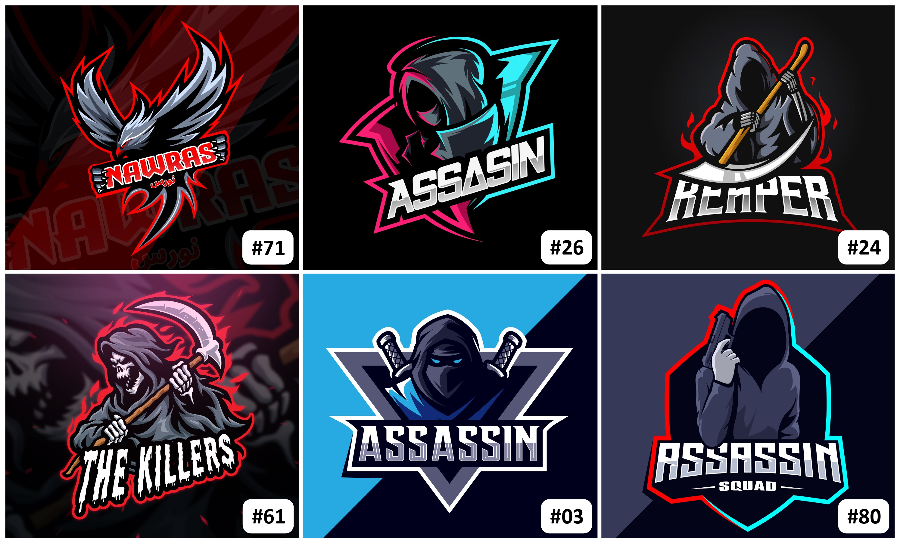 Design your gaming logo at a cheap price. also,  I'll add your text to the gaming logo