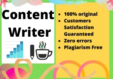 I will write creative SEO friendly content of 1500+ words for your website