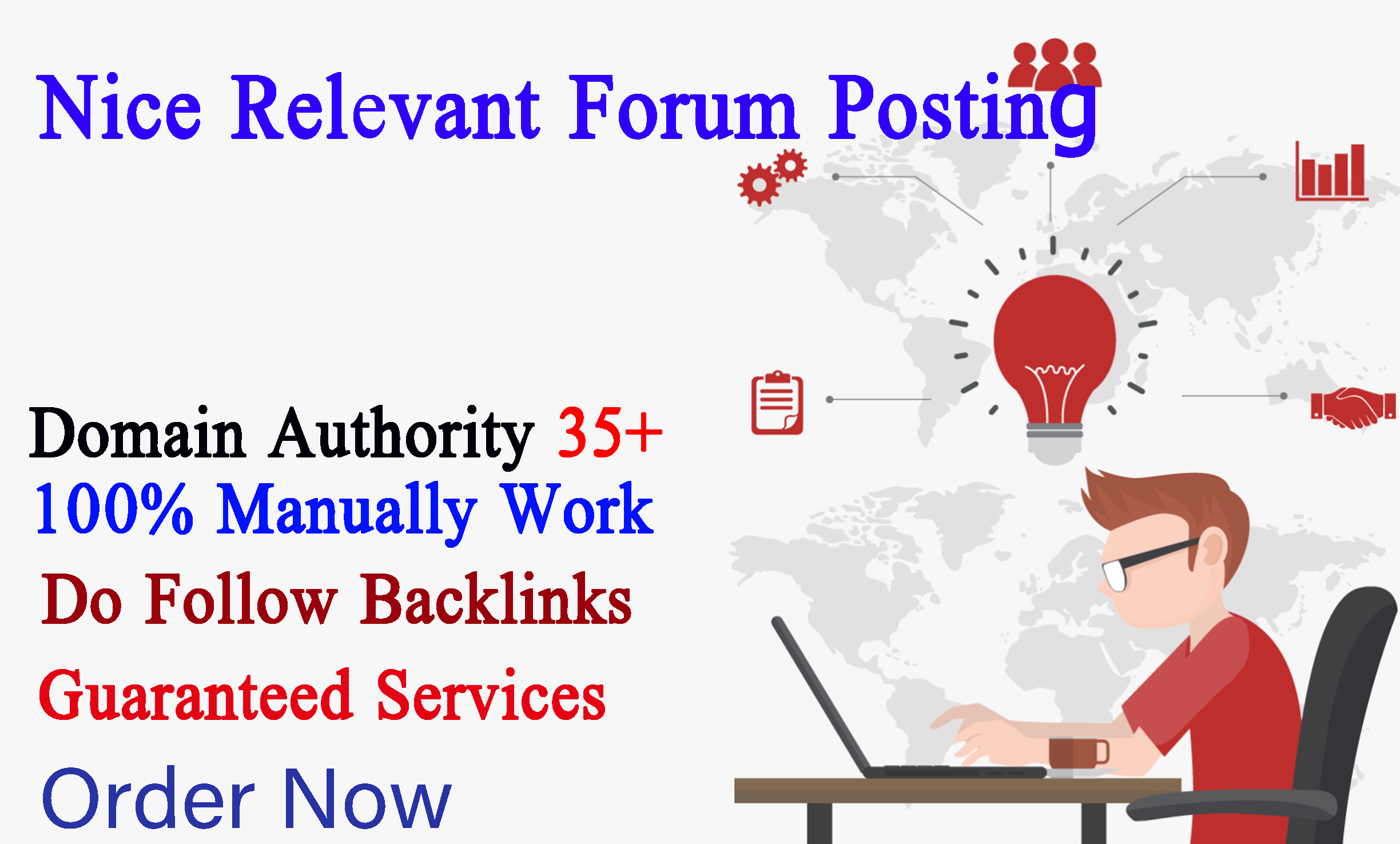 I will create 70 approved forum posting links for your site