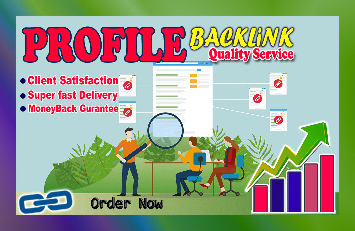 Manually 100 High Quality Profile Creation Backlinks for your Website