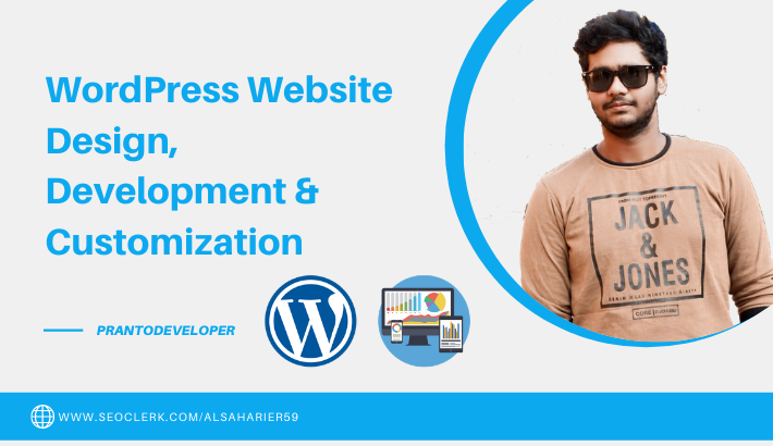 SEO friendly WordPress Install, Design & Customization