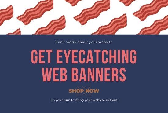 Design professional website header or banners