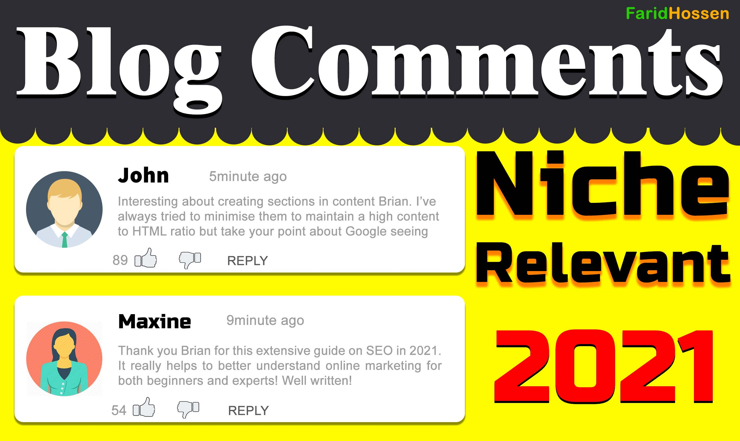 Quick Indexing 25 Blog Comments Backlinks High Authority and Trust Flow