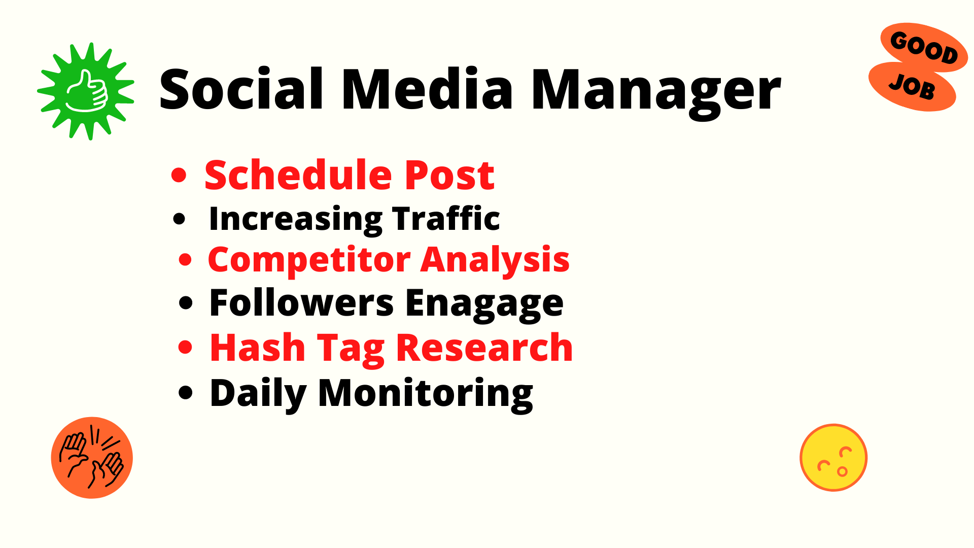 I want to be your Social Media Manager