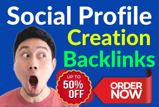 60 Dofollow Social Profile Creation Backlinks